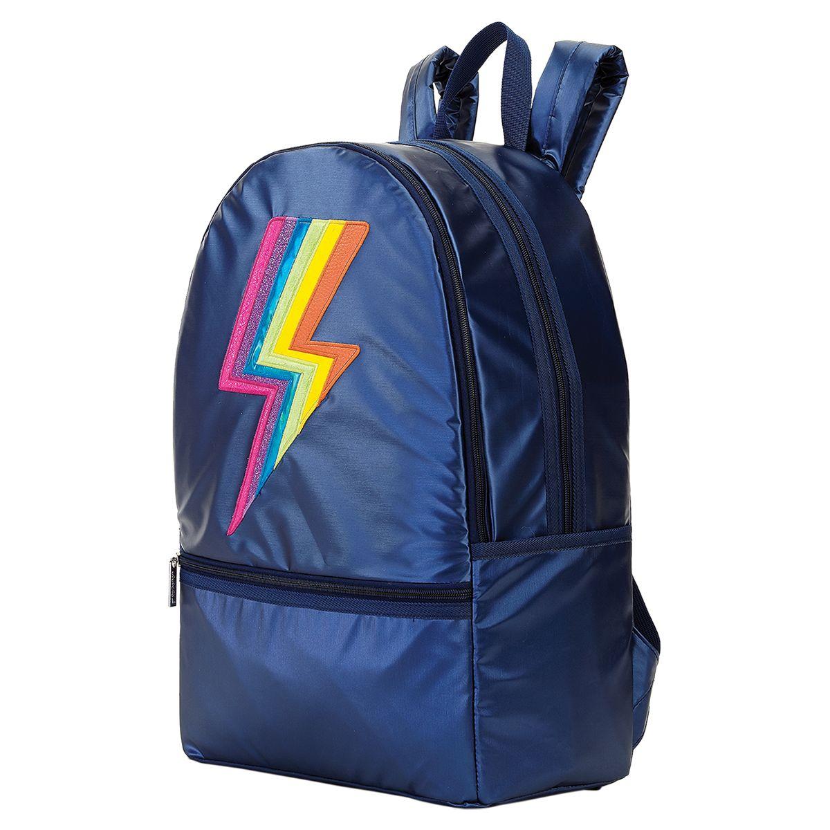 Personalized Metallic Rainbow Lightning Backpack