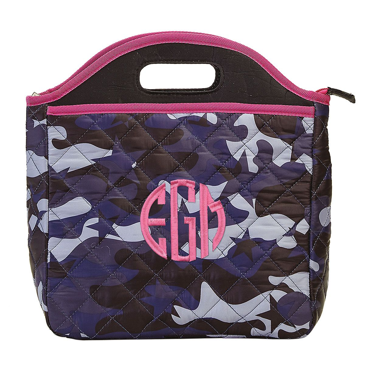 Personalized Midnight Blue Camo Lunch Tote