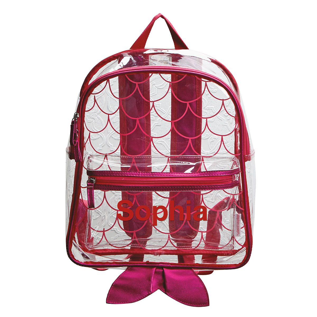 Personalized Mermaid Clear Backpack