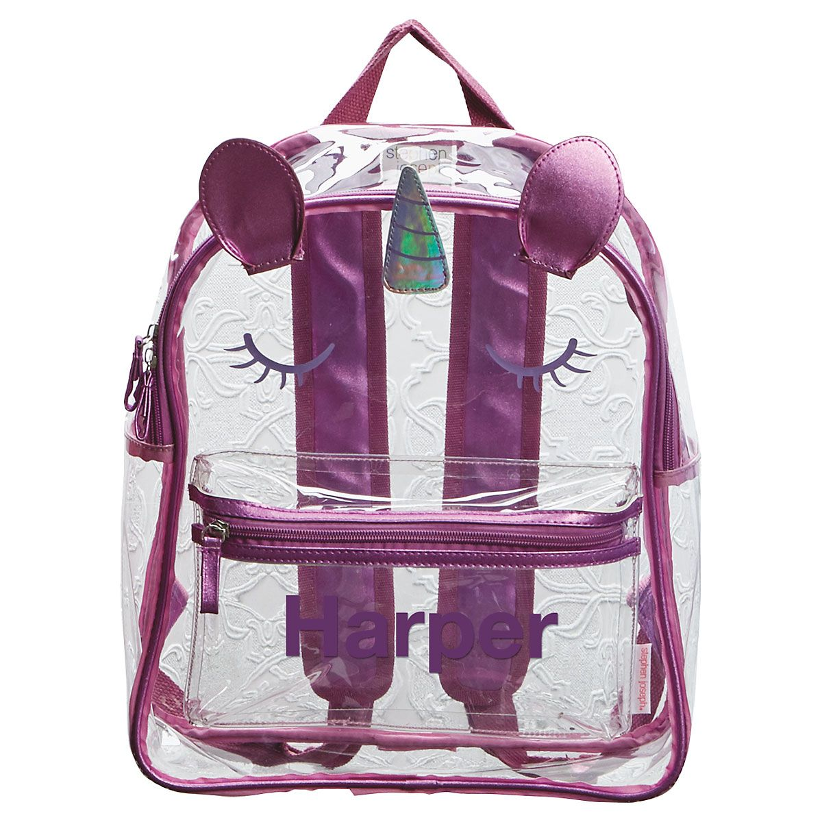 Personalized Unicorn Clear Backpack