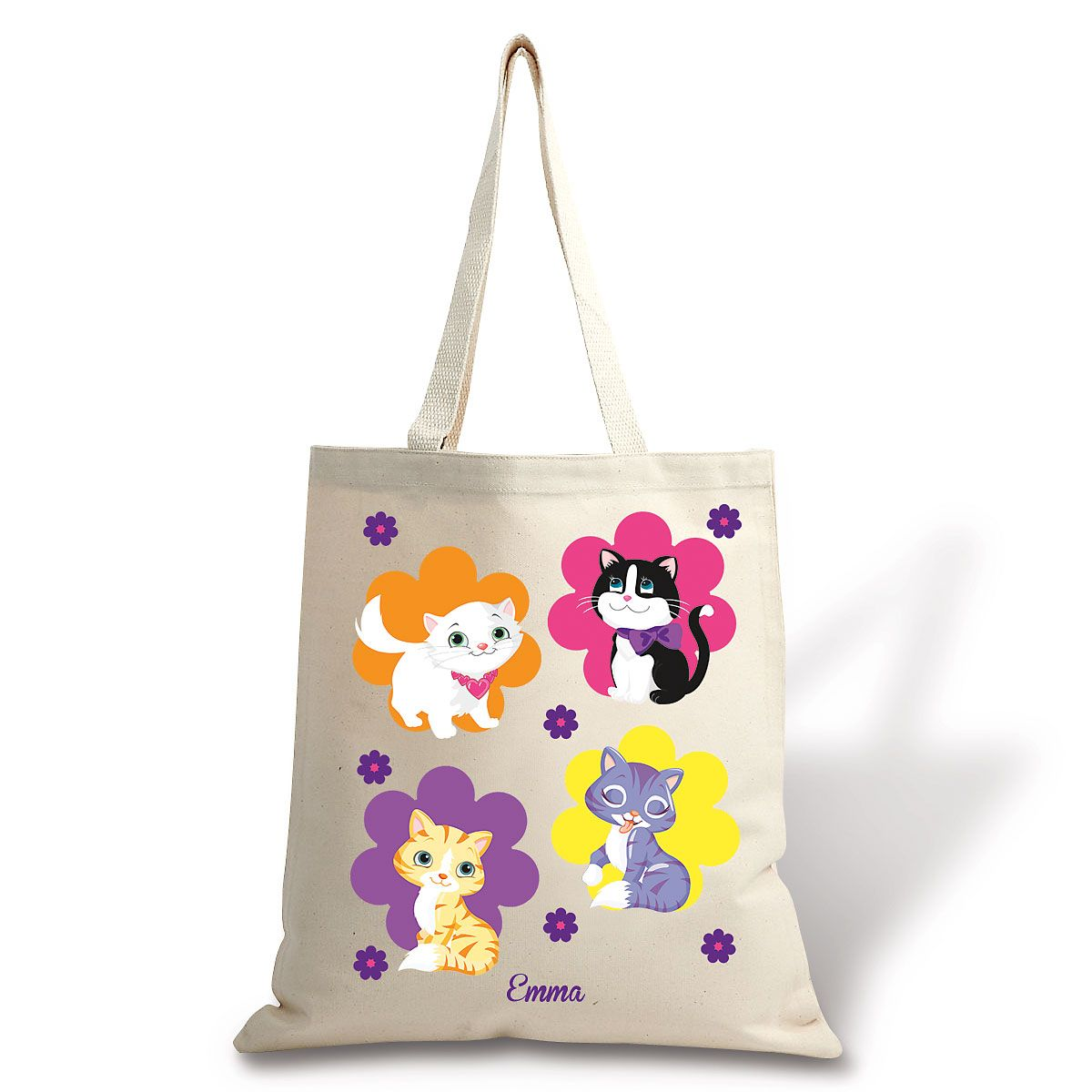 Personalized Kitten Cuties Canvas Tote