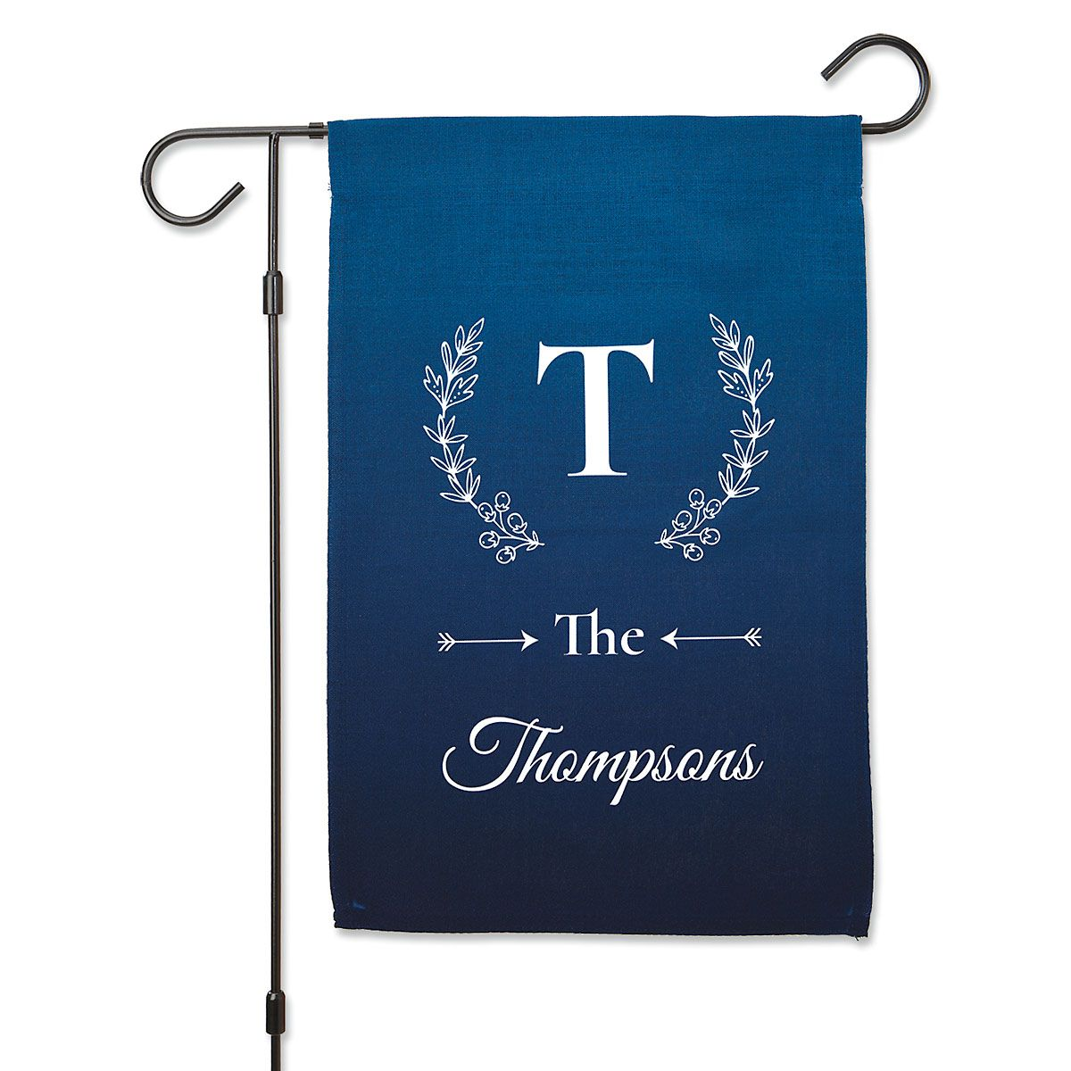 Personalized Initial & Family Name Garden Flag