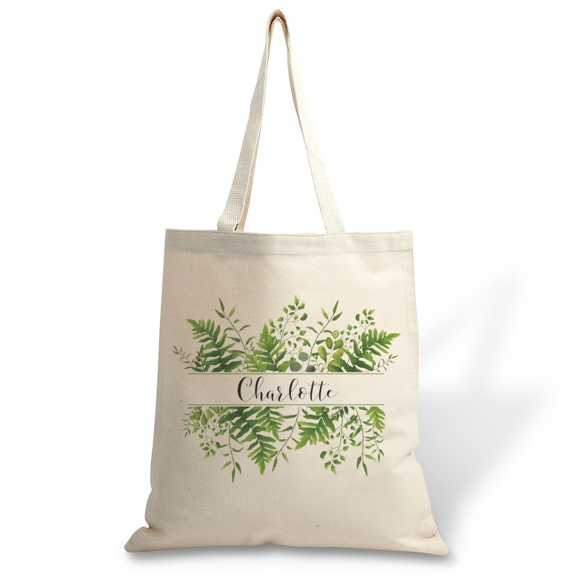 Family Greenery Canvas Tote