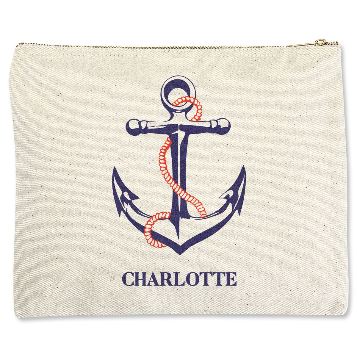 Anchor Zippered Pouches