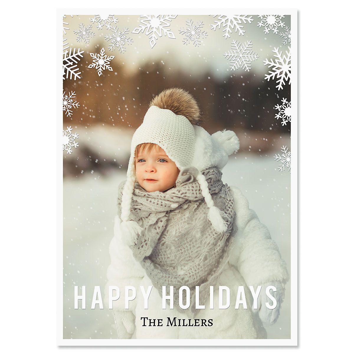Snowflake Photo Christmas Cards