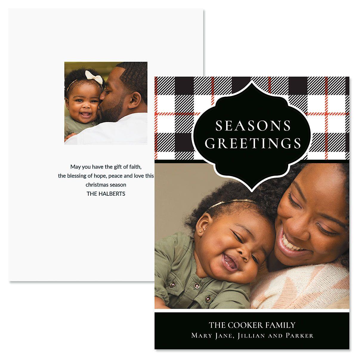 Buffalo Check Photo Christmas Cards