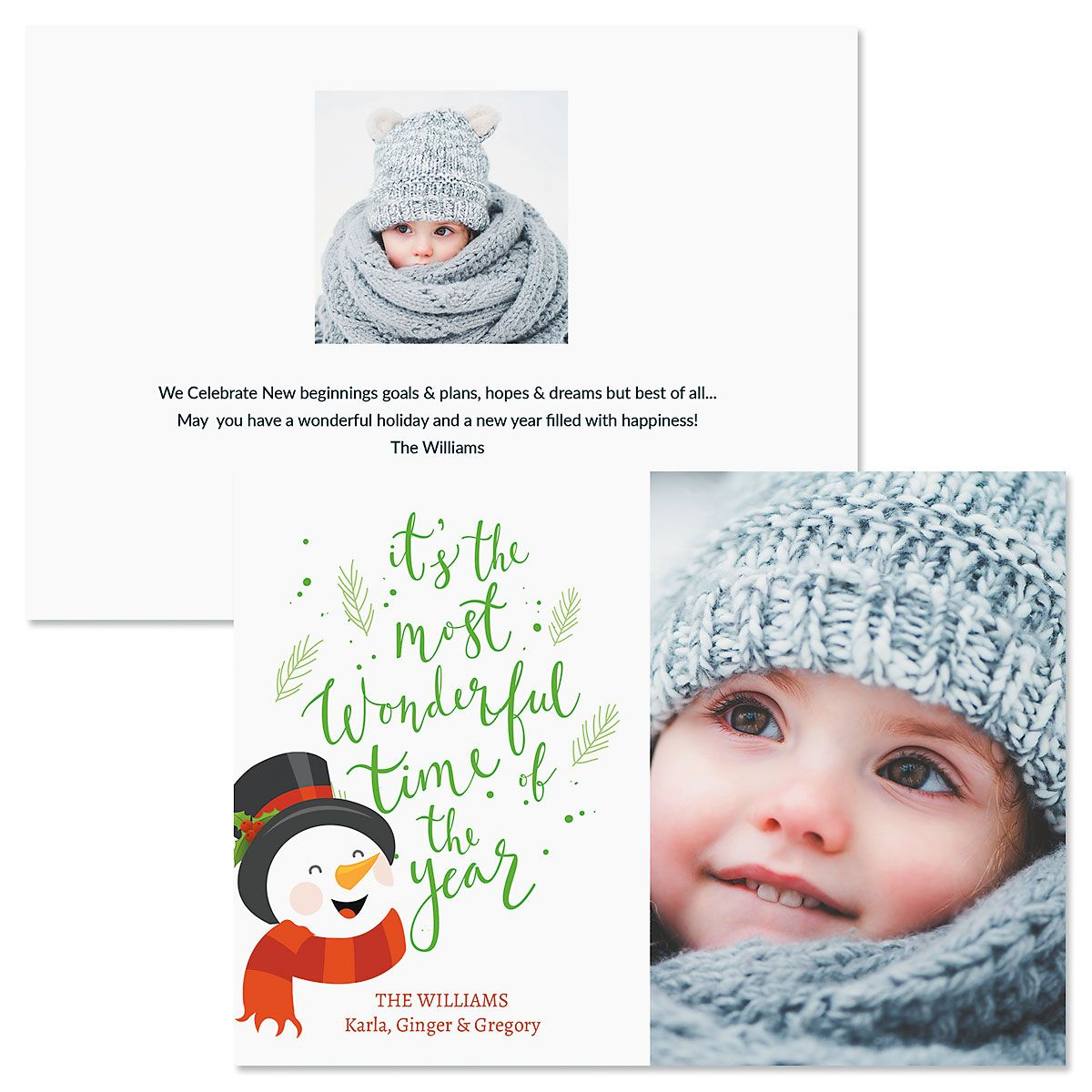Laughing Snowman Photo Christmas Cards