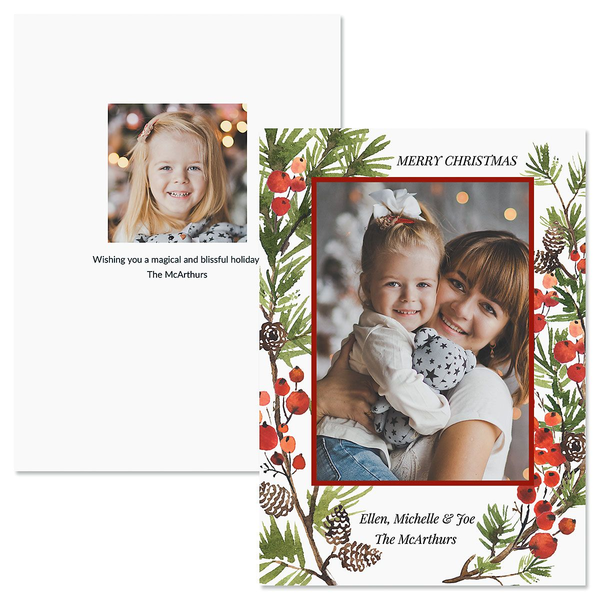 Holiday Berry Photo Christmas Cards