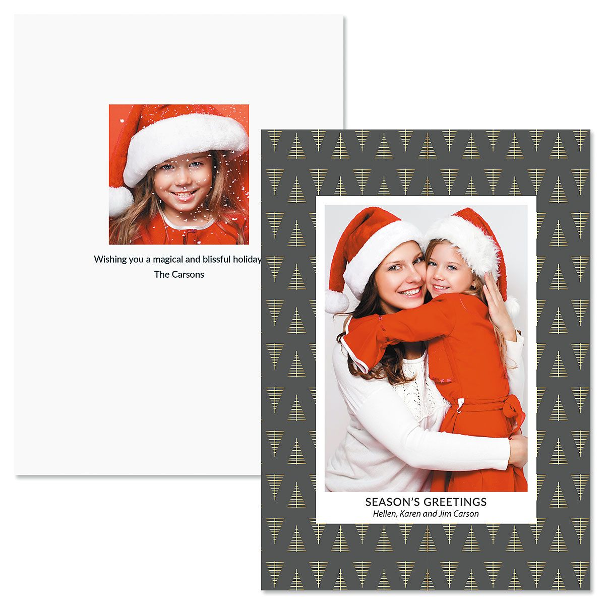 Modern Tree Photo Christmas Cards
