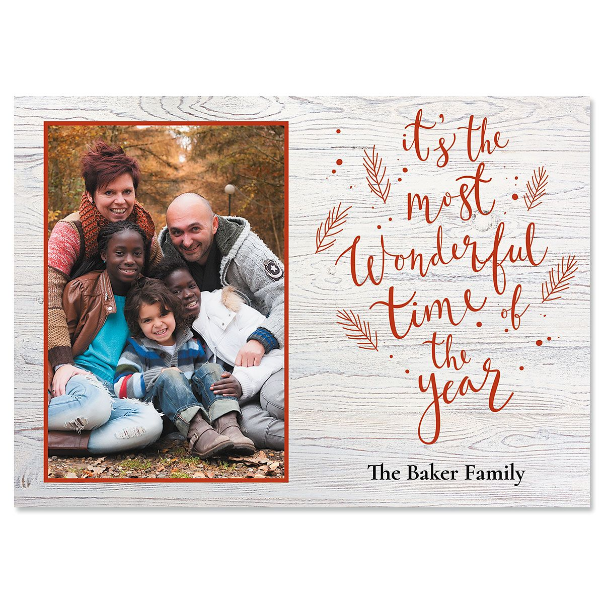 Wonderful Year Photo Christmas Cards