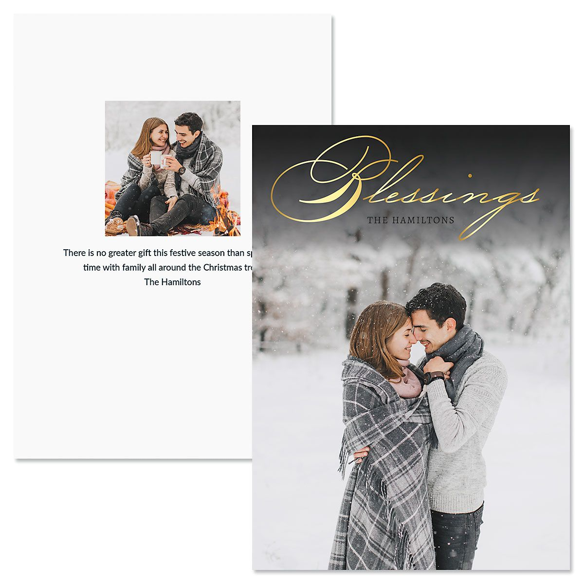 Blessings Vertical Photo Christmas Cards