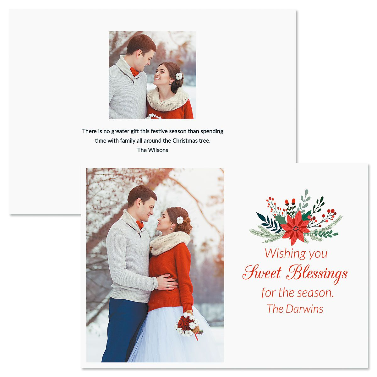 Sweet Blessings Photo Christmas Cards