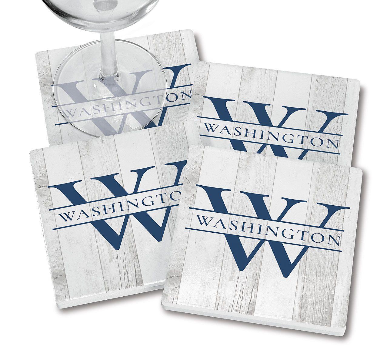 Whitewashed Woodgrain Coasters