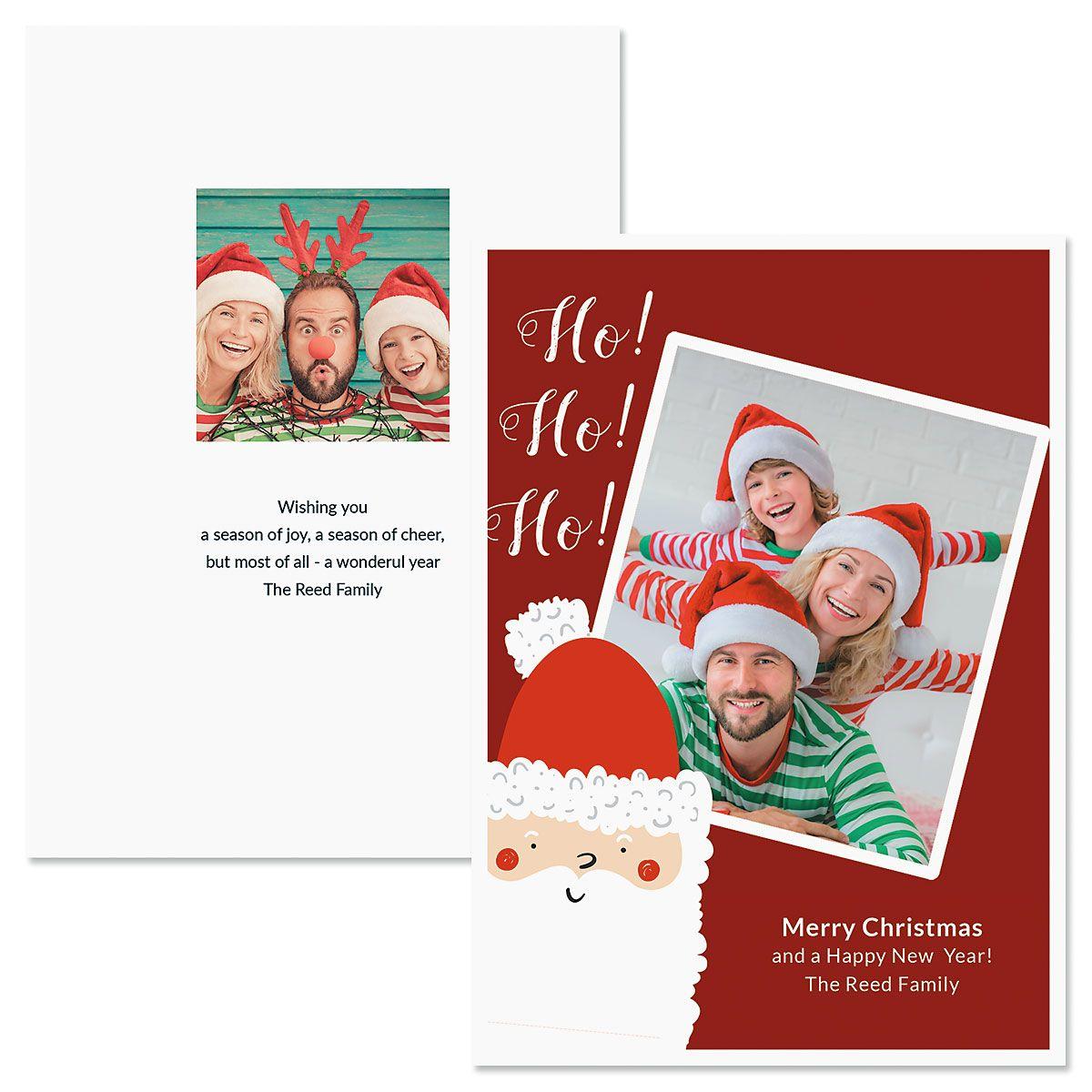 Ho Ho Ho Photo Christmas Cards