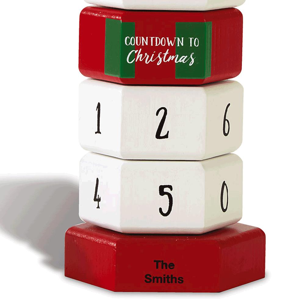 Snowman Christmas Countdown Blocks