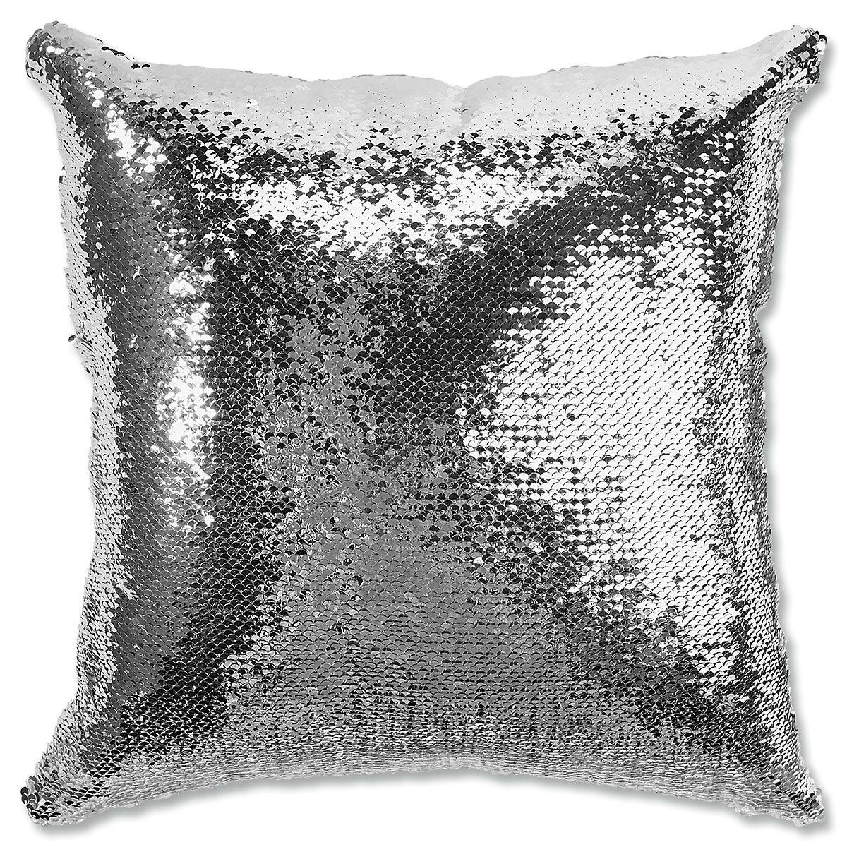Sequined Monogram Pillow