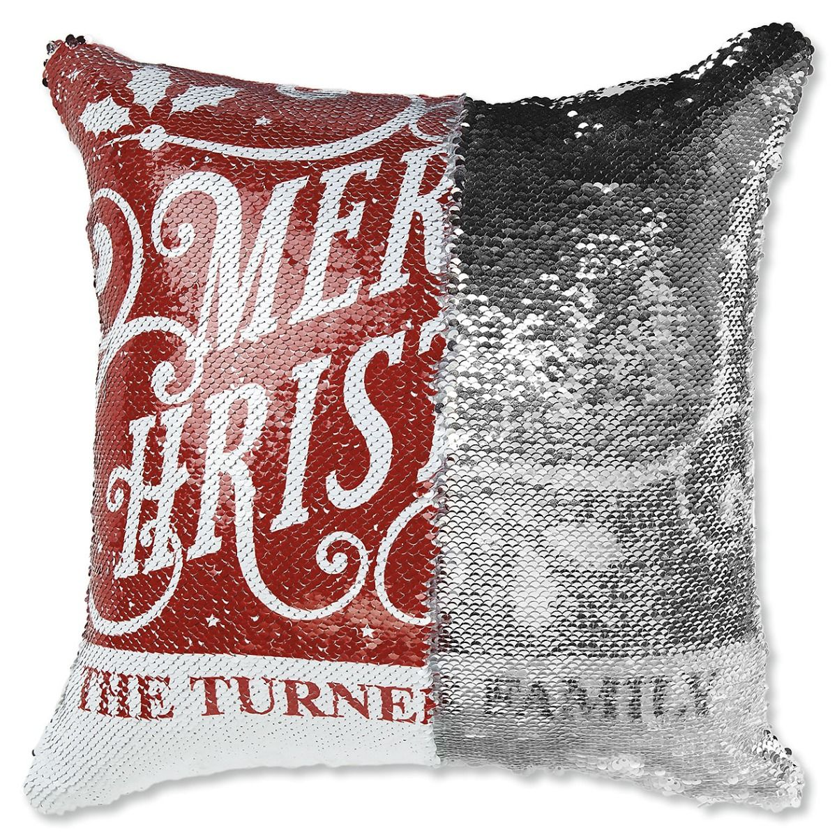 "Sequined ""Merry Christmas""  Pillow"