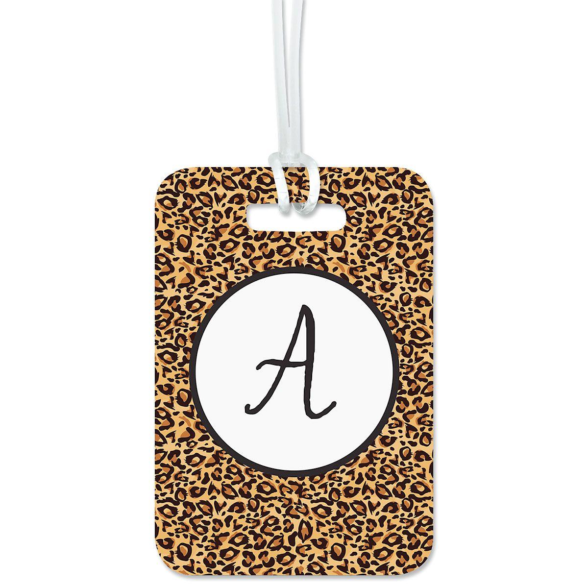 Cheetah Print Luggage Tag