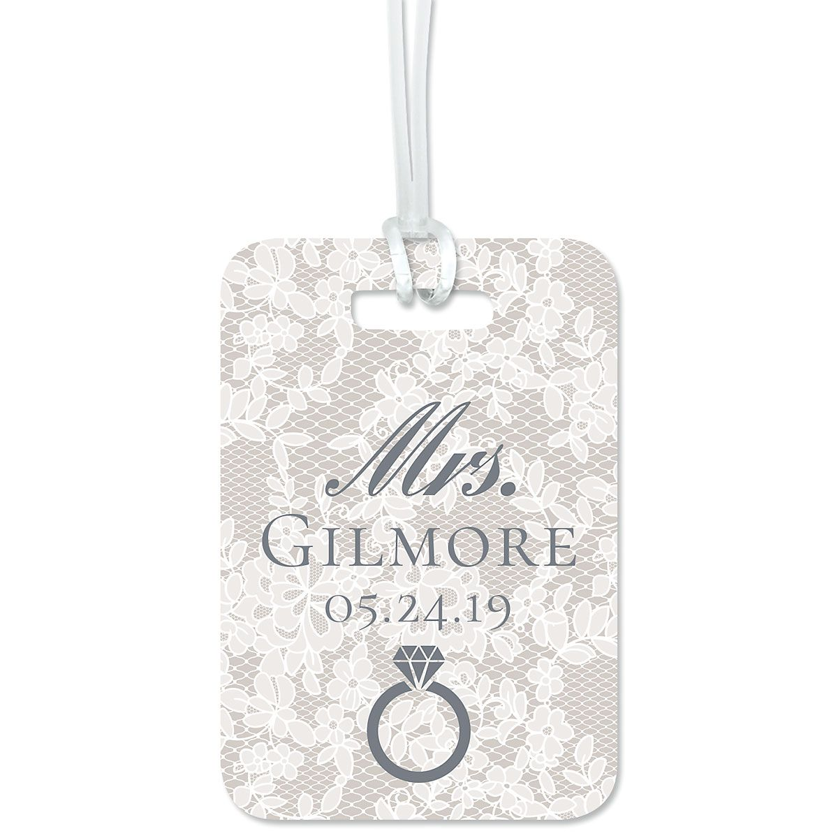 Chantilly Lace Luggage Tag