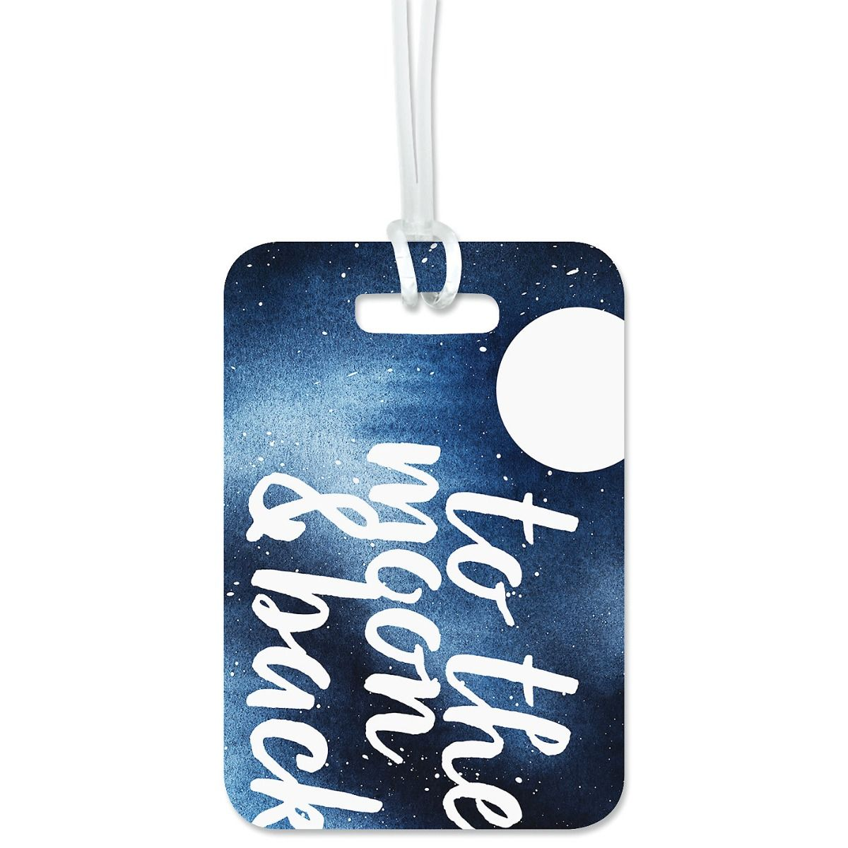 To The Moon Luggage Tag