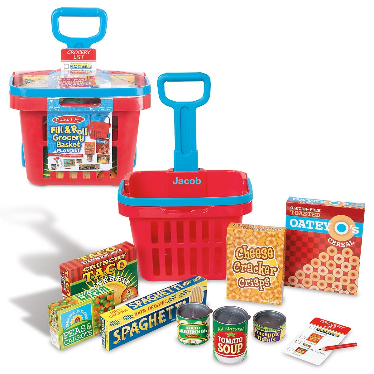 Fill & Roll Personalized Grocery Cart by Melissa and Doug®
