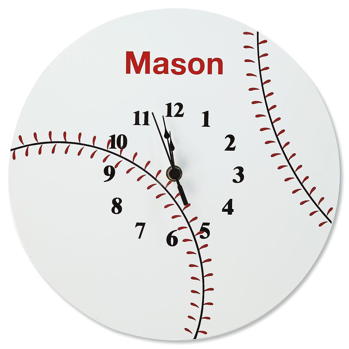 Personalized Baseball Clock