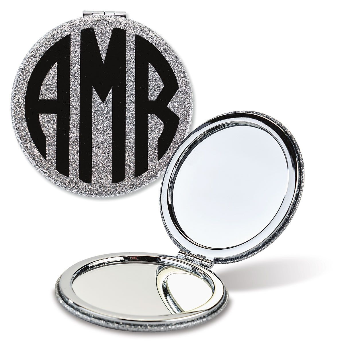 Monogrammed Compact Mirrors