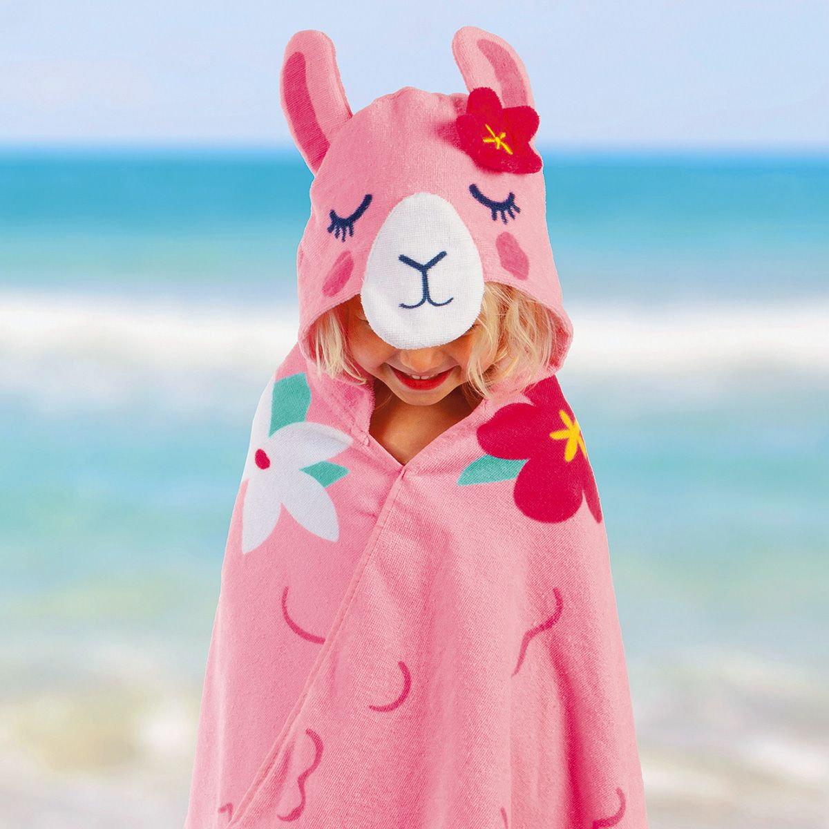 Personalized Hooded Llama Towel by Stephen Joseph®