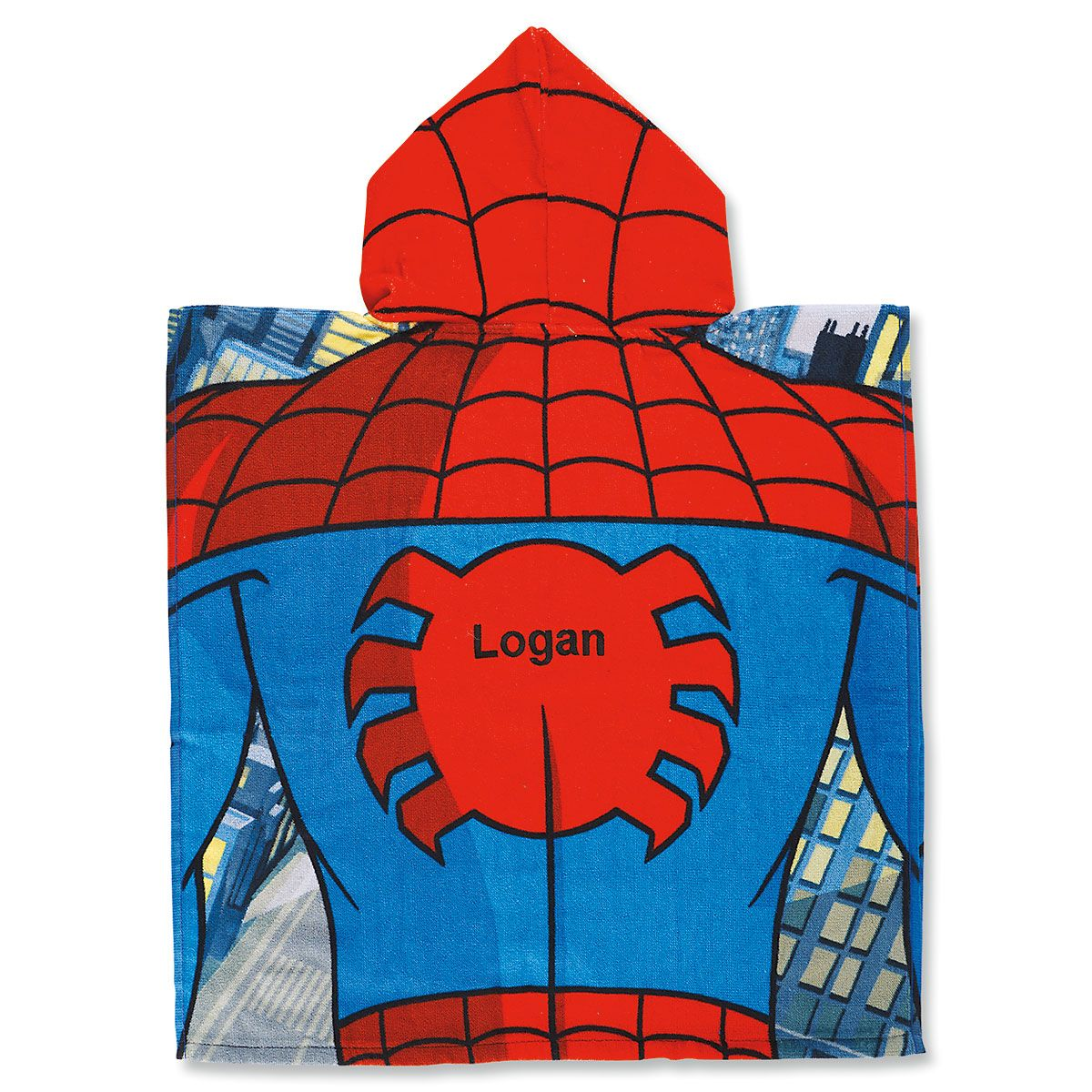 Spiderman Poncho Personalized Towel