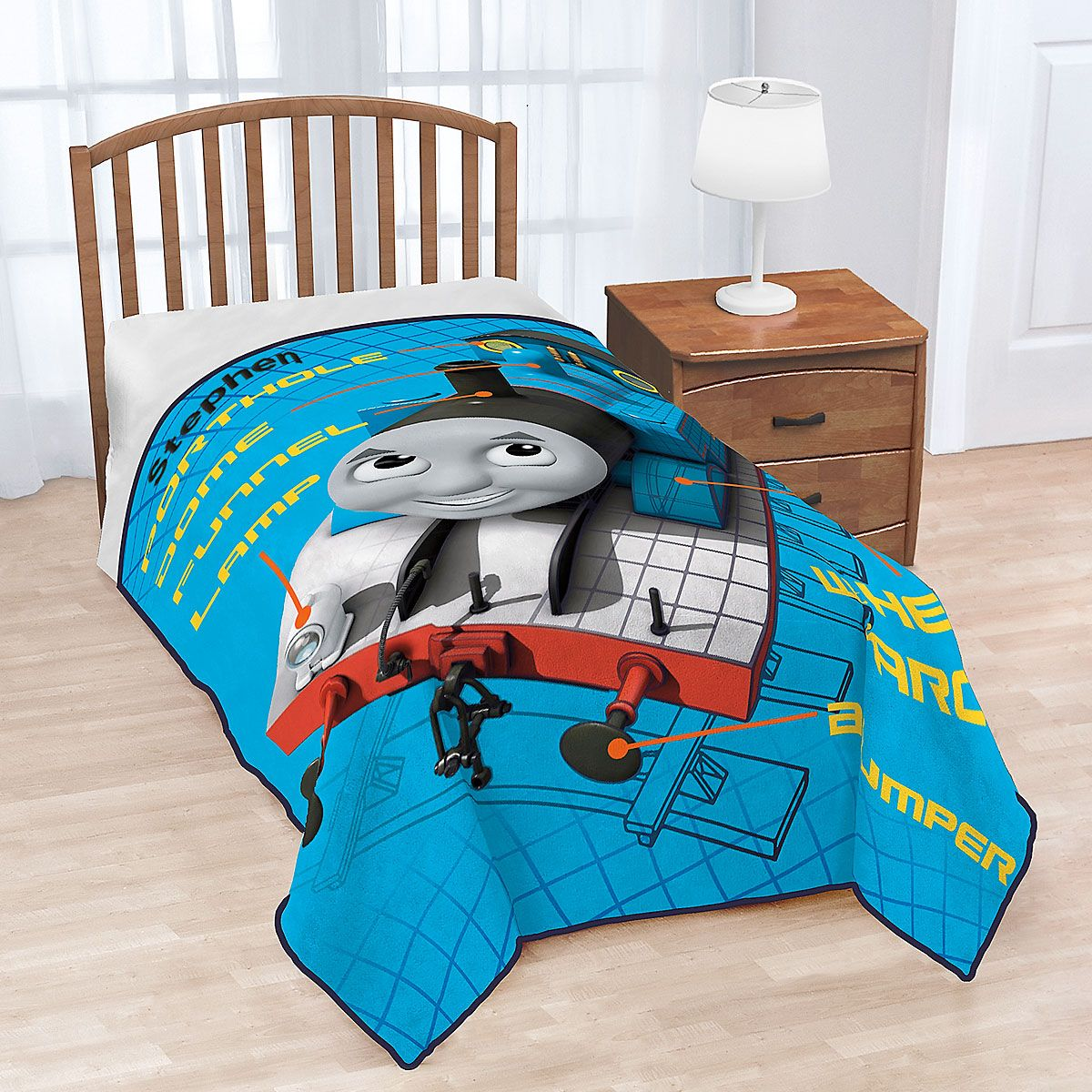 Thomas the Train Over-Sized Personalized Fleece Blanket