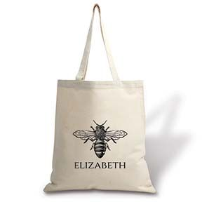 Bee Personalized Canvas Tote Bag