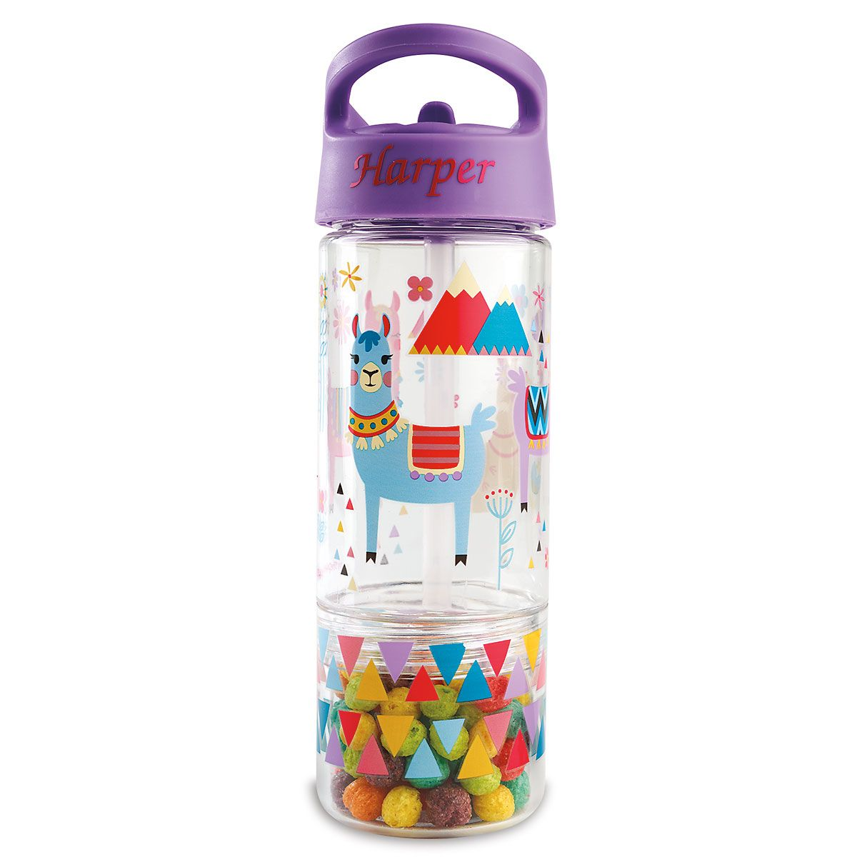 Personalized Llama Sip & Snack Bottle by Stephen Joseph®