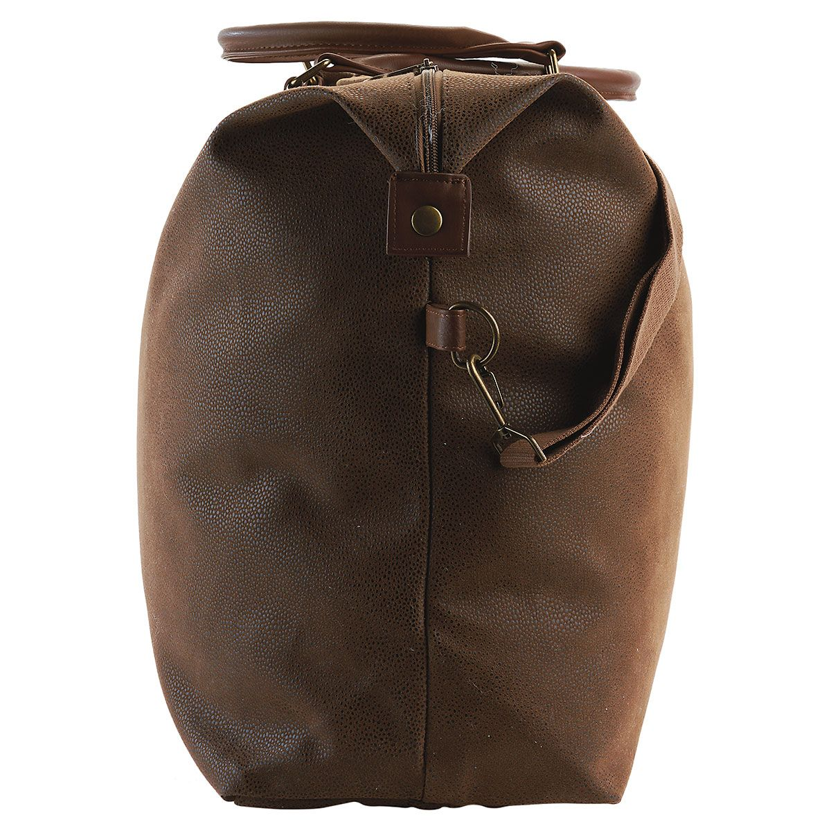 Personalized Oversized Brown Suede Duffel Bag