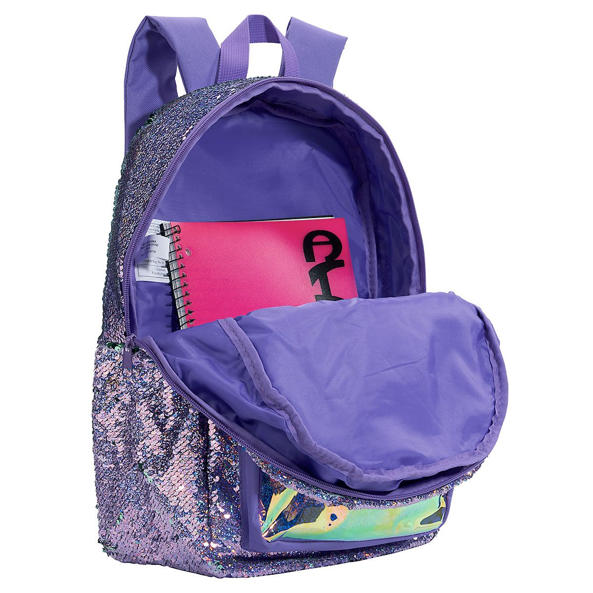 Personalized Purple Magic Sequin Holographic Backpack