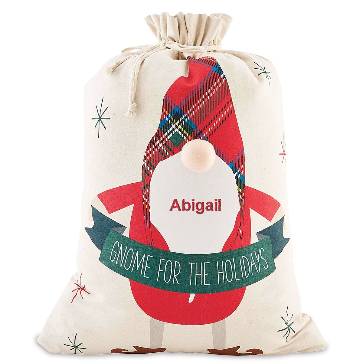 Personalized Gnome Gift Sacks