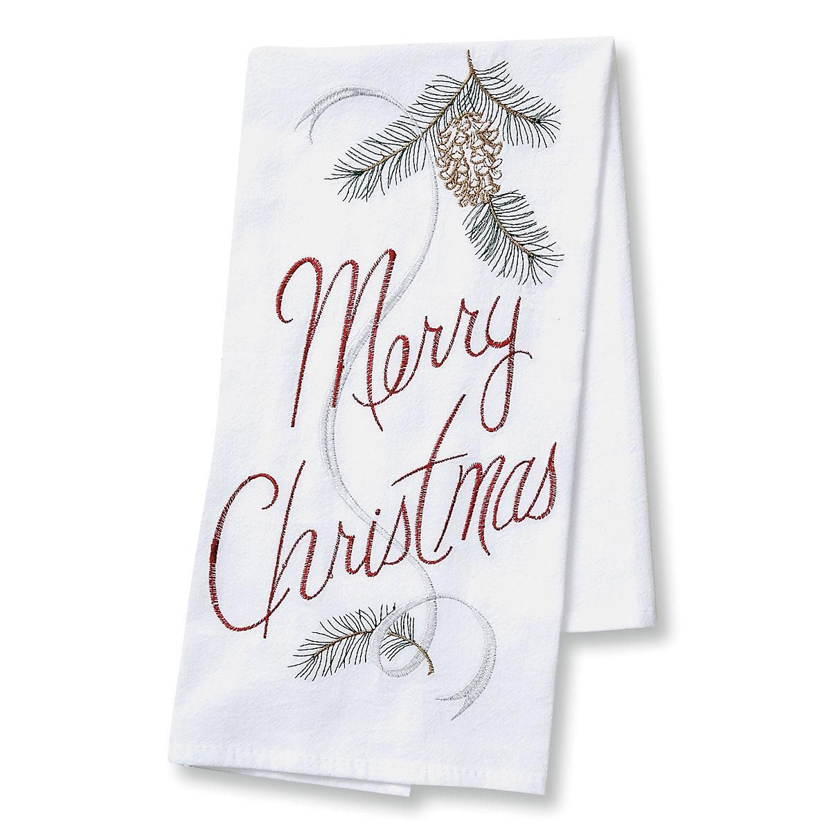 Merry Christmas Flour Sack Towel