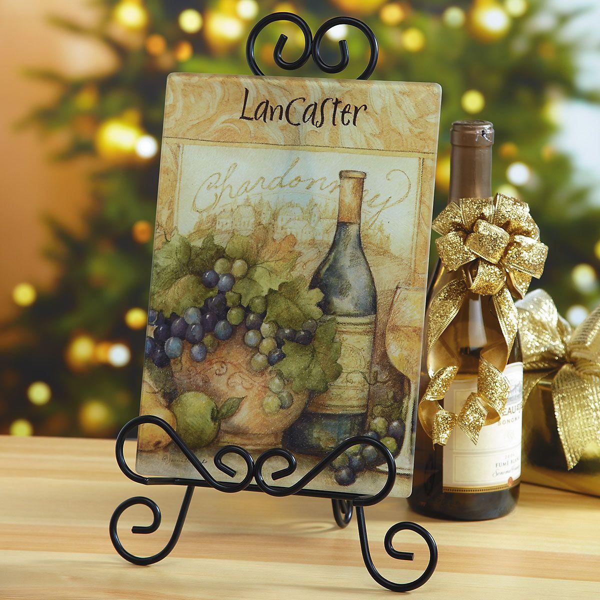 Wine Bottle Personalized Glass Cutting Board
