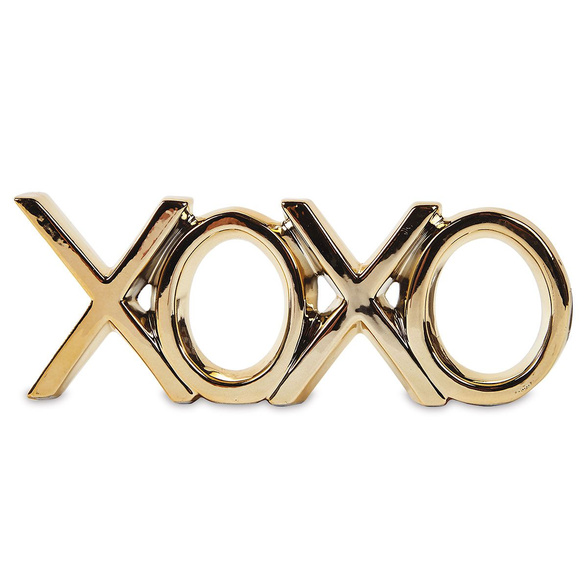 XOXO Metallic Gold-Dipped Decoration