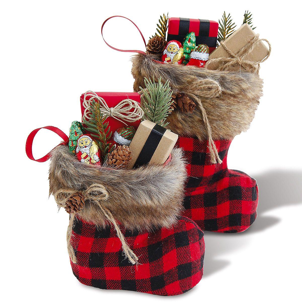 Santa Boots With Fur Cuffs Lillian Vernon