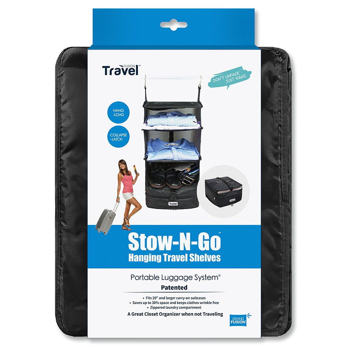 Stow-N-Go Hanging Travel Shelves