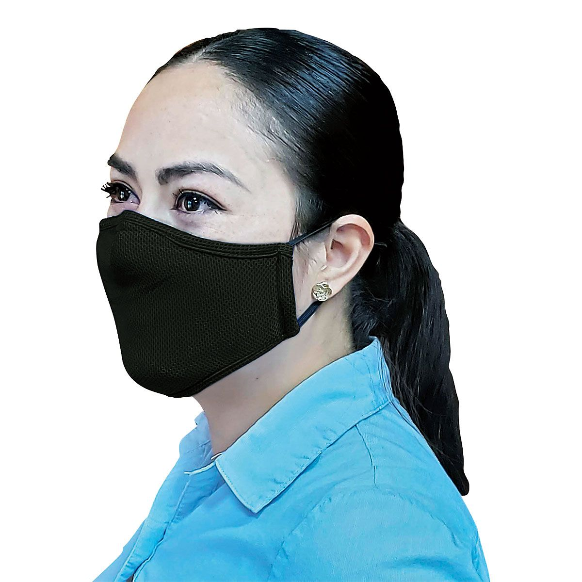 Black Reusable Face Mask & Replacement Filters