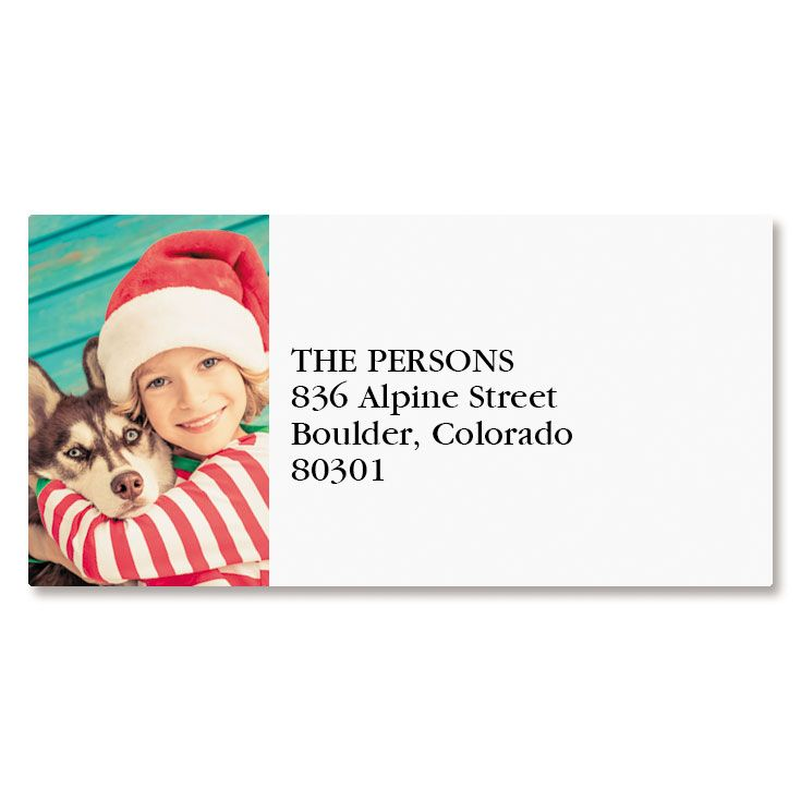 Direct Border Personalized Photo Address Label