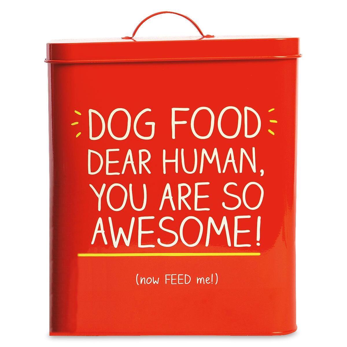 Dear Human Dog Food Tin by Wild & Wolf