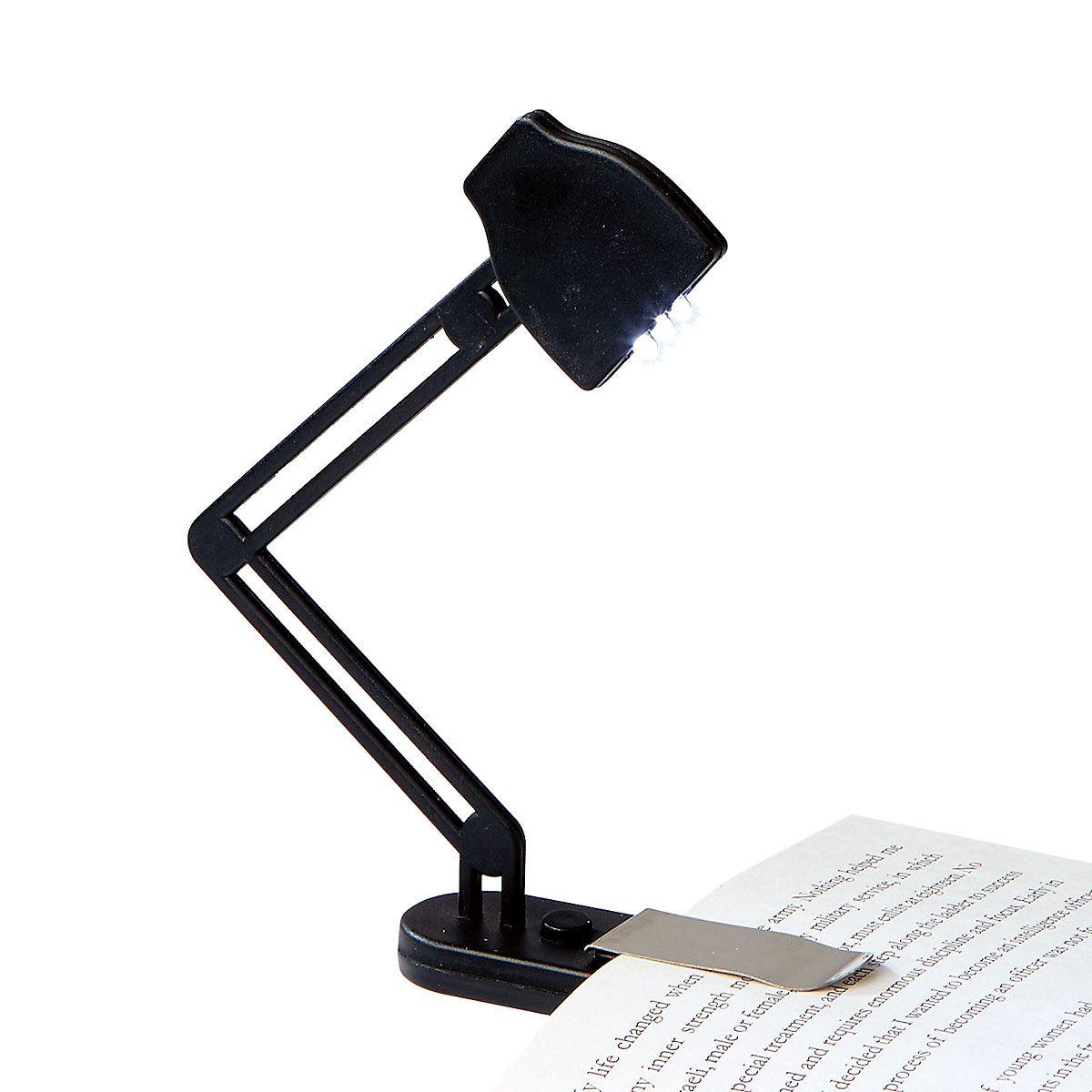Slim Black Book Lamp