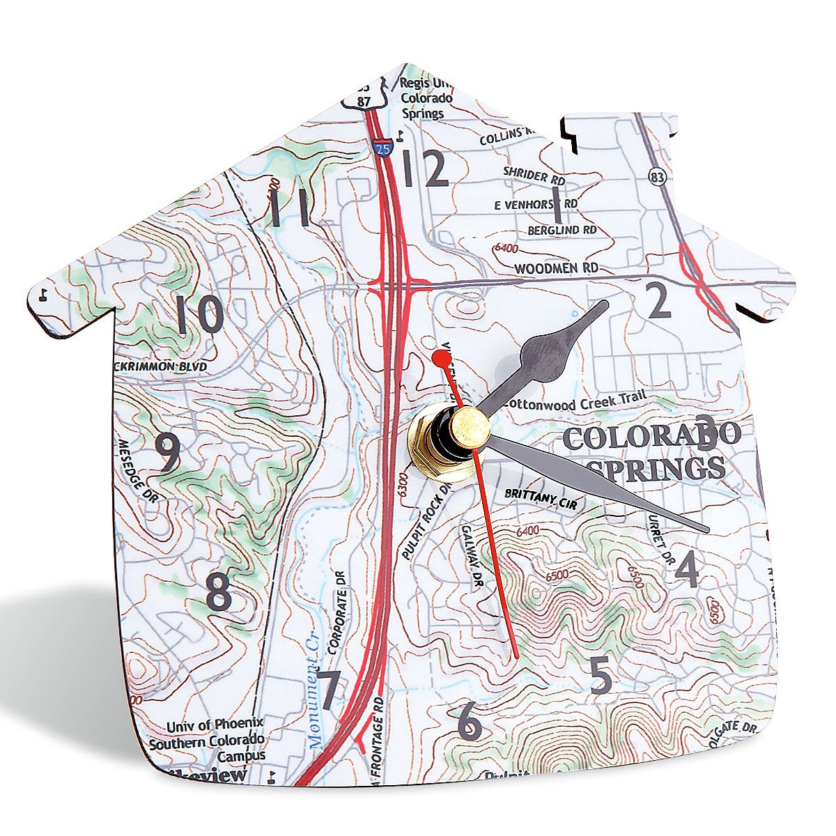 Personalized Map Desk Clock