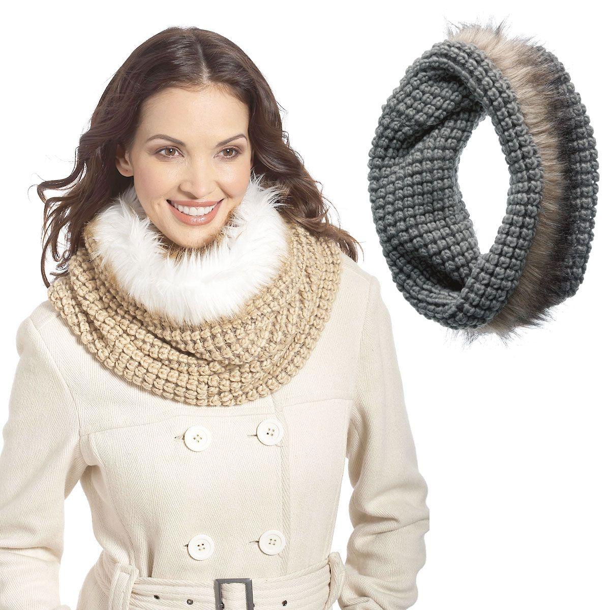 Infinity Fur Hooded Scarf
