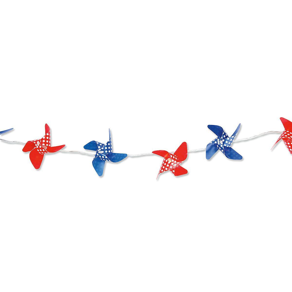 Patriotic Pinwheel Garland