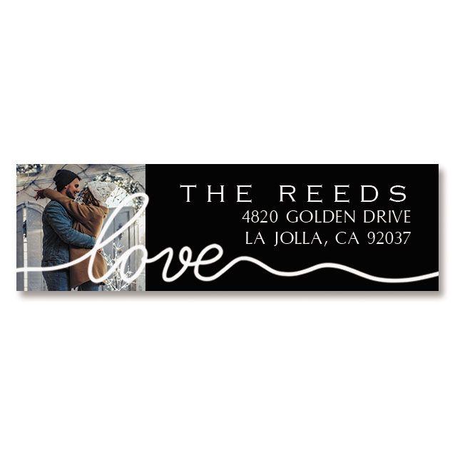 Love Classic White Personalized Photo Address Label