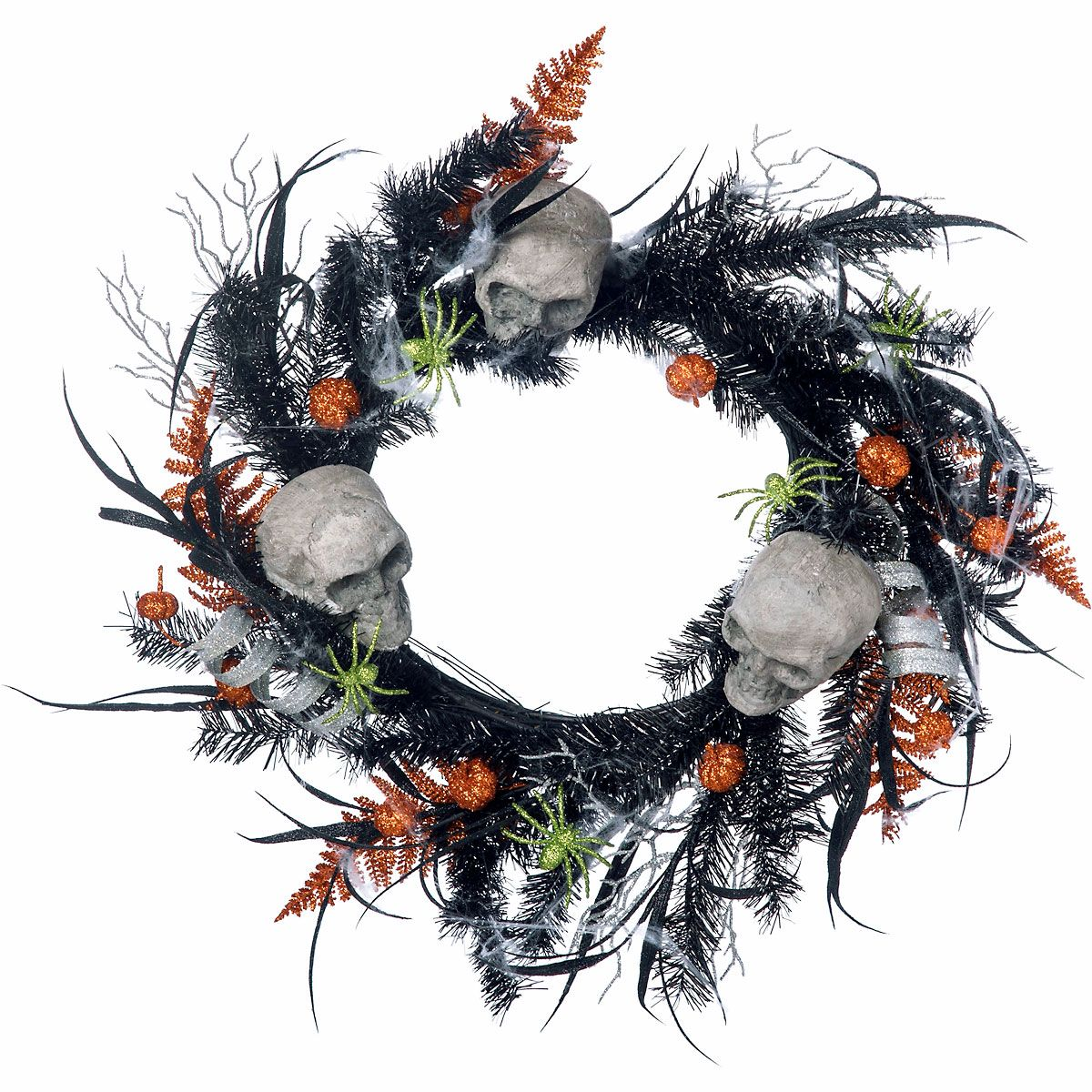 Skull & Spider Wreath