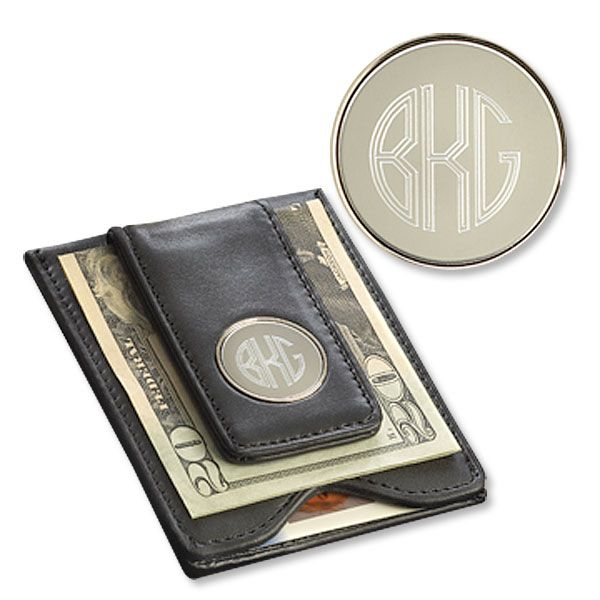 Leather Wallet & Money Clip-Black-GC1041